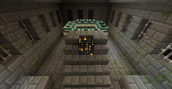 Un portail de l'Ender non actif. - Minecraft