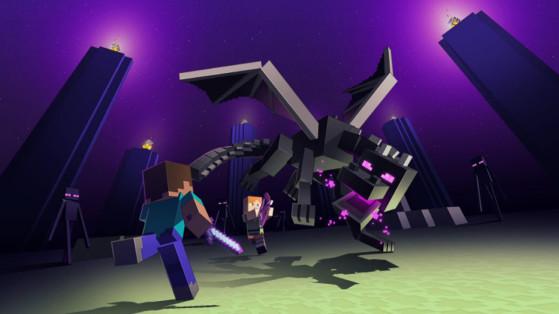 Minecraft : Aller dans l'End et battre l'Ender Dragon