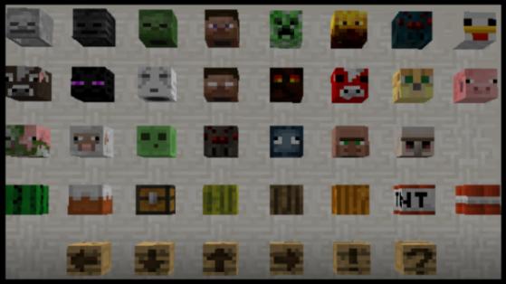 32 nouvelles têtes dans Minecraft 1.7