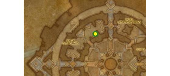 Emplacement du Rapiéceur Au'phis, maître des couturiers à Oribos - World of Warcraft