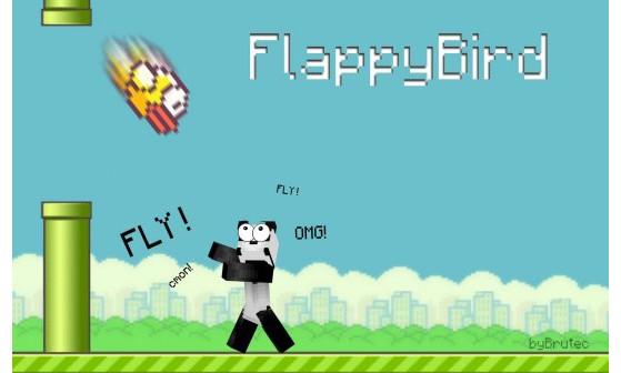 Flappy Bird dans Minecraft