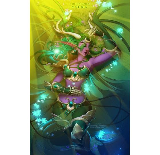 Ysera, représentée sous sa forme Humanoïde. FanArt de artofcarmen. - Hearthstone