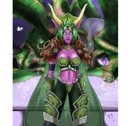 Ysera sous sa forme humanoïde. FanArt de raimy329 - Hearthstone