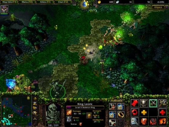 Images extraites de DotA Allstars, une des versions du mod les plus jouées - Warcraft 3