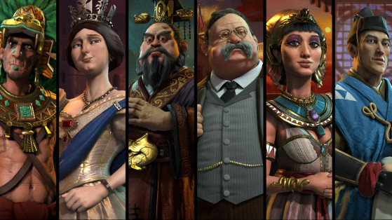 Civ 6, Rise & Fall, Gathering Storm, DLC : Civilisations, pays, leaders