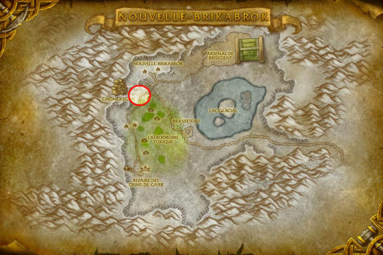 Localisation de Mina Jubileclé - World of Warcraft