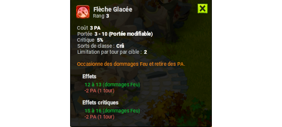 Flèche Glacée - Dofus