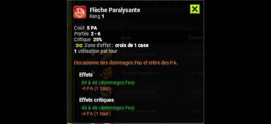 Flèche Paralysante - Dofus