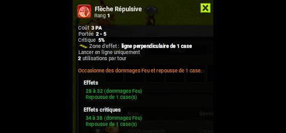 Flèche Répulsive - Dofus