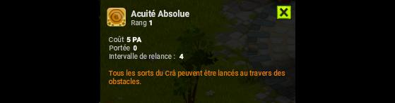 Acuité Absolue - Dofus