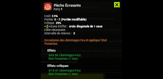 Flèche Ecrasante - Dofus