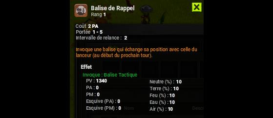 Balise de Rappel - Dofus