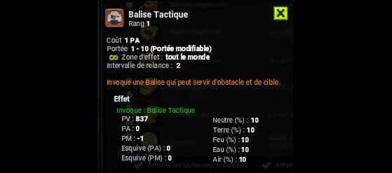 Balise Tactique - Dofus
