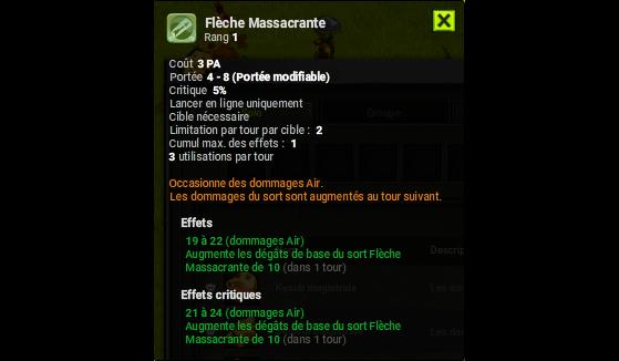 Flèche Massacrante - Dofus