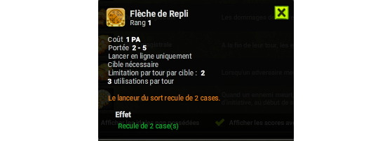Flèche de Repli - Dofus