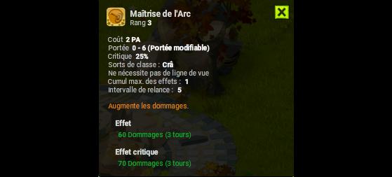Maitrise de l'Arc - Dofus
