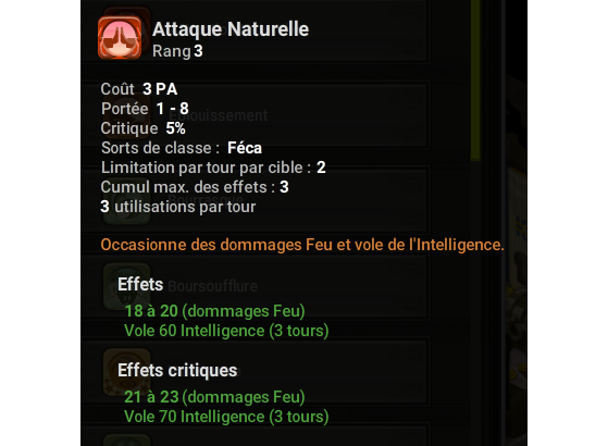 Attaque Naturelle - Dofus