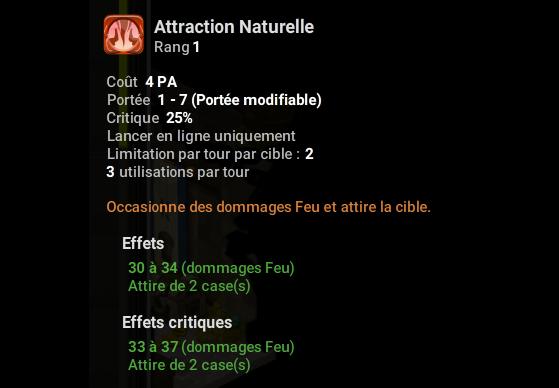 Attraction Naturelle - Dofus