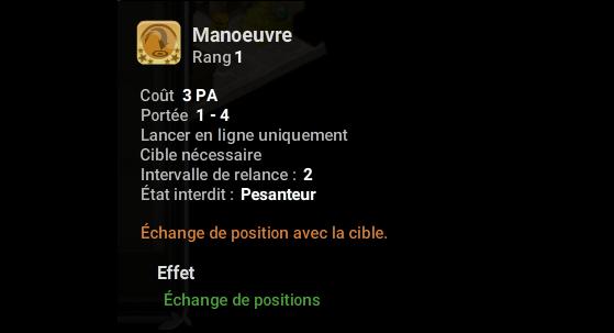 Manoeuvre - Dofus