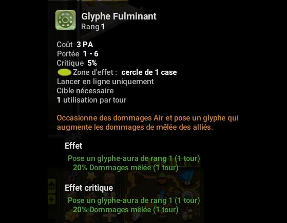 Glyphe Fulminant - Dofus