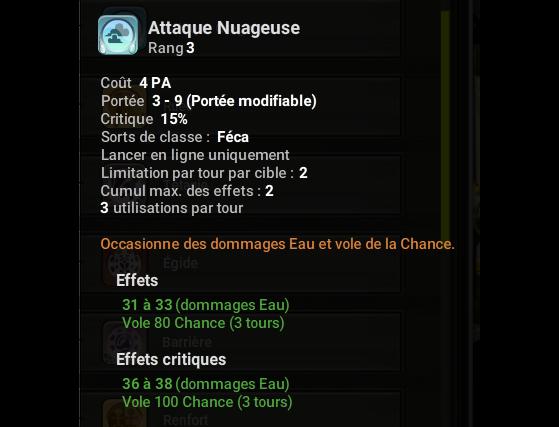 Attaque Nuageuse - Dofus