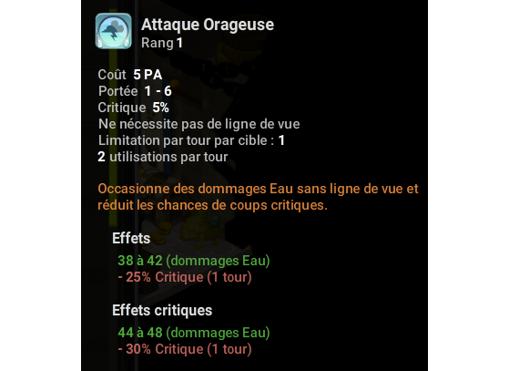 Attaque Orageuse - Dofus