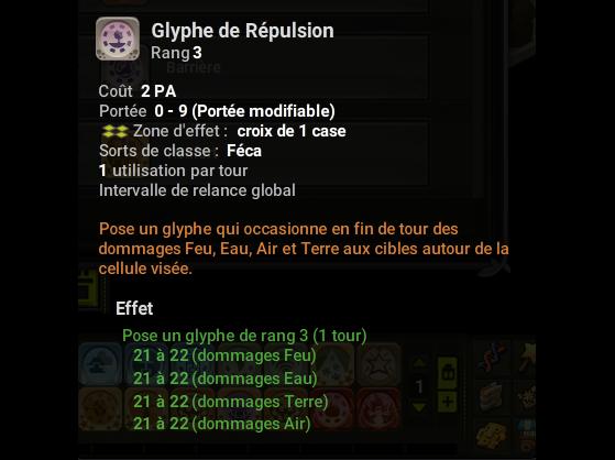 Glyphe de Répulsion - Dofus