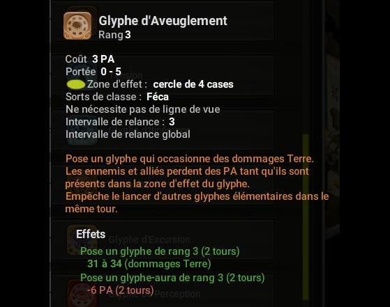 Glyphe d'Aveuglement - Dofus