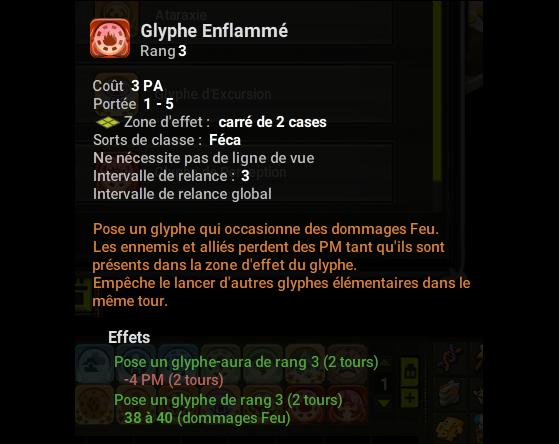 Glyphe Enflammé - Dofus