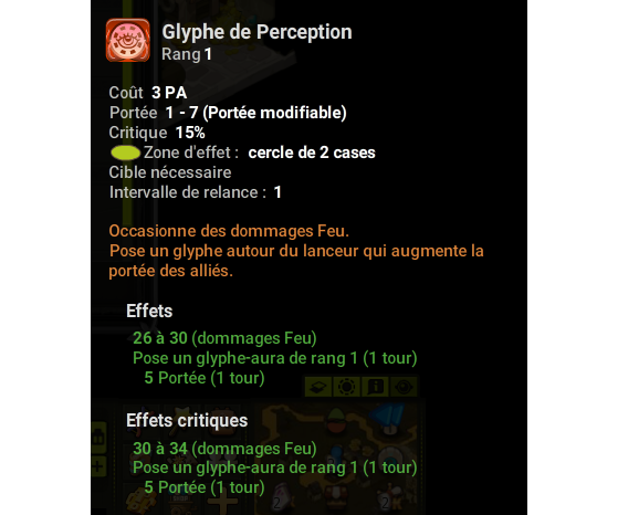 Glyphe de Perception - Dofus