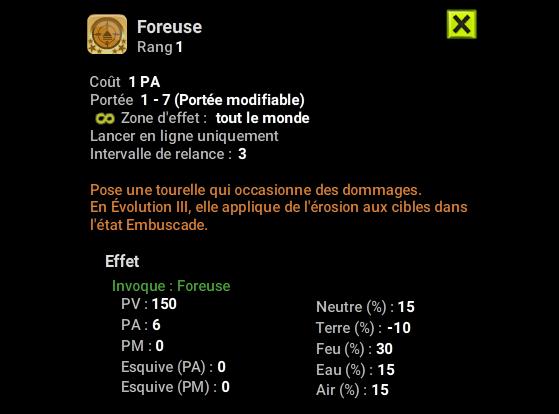 Foreuse - Dofus