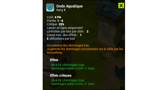 Onde Aquatique - Dofus