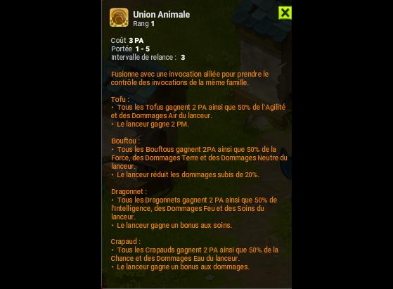 Union animale - Dofus