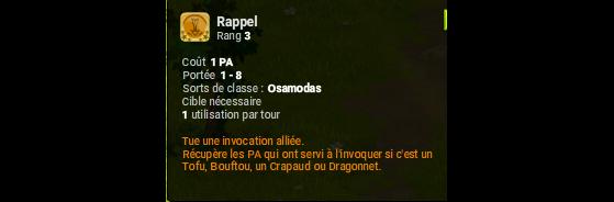 Rappel - Dofus