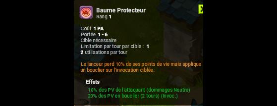 Baume Protecteur - Dofus