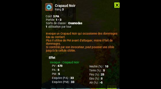 Crapaud Noir - Dofus