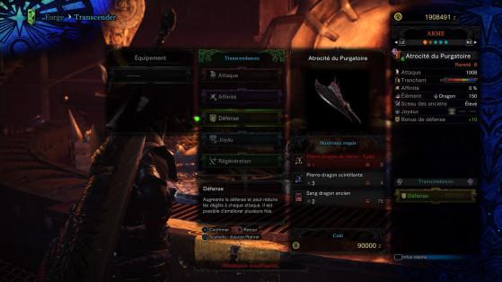 Défense - Monster Hunter World