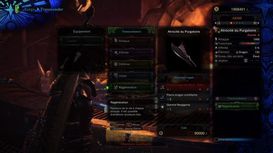 Régénération - Monster Hunter World