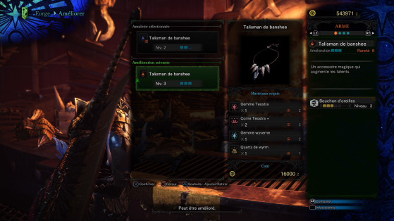 Les meilleurs talismans vont demander du farming... - Monster Hunter World