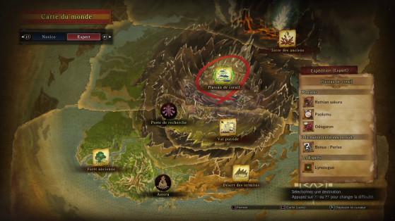 Vérifiez l'information environnementale pour chercher le bon bonus - Monster Hunter World