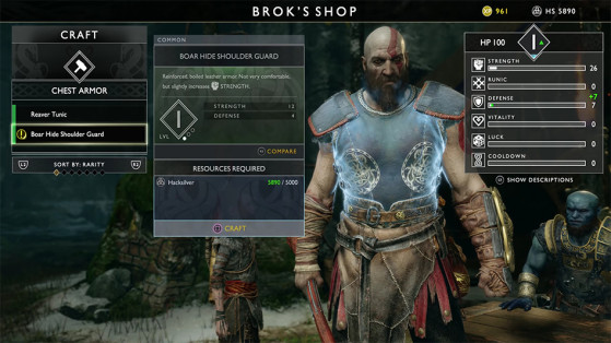 God of War PS4 : Forge, Ateliers de Brok et Sindri, tout sur le craft