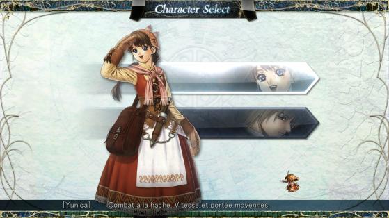 Au début, vous aurez le choix entre les deux personnages ainsi que l'un des 3 modes de difficultés. Il est à noté qu'un troisième personnage se débloque une fois les deux premières histoires finies. - Top Jeux