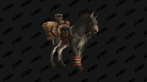 WoW BFA Monture: Mule de bât terrifiée (the Terrified Pack Mule)