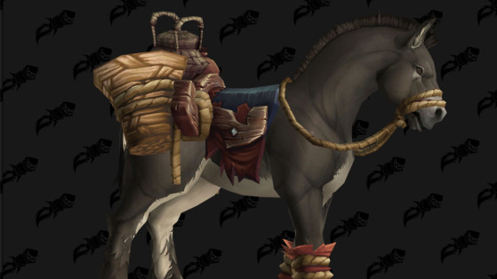 WoW BFA Monture : Mule de bât terrifiée (Terrified Pack Mule)