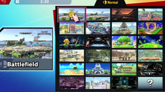 Super Smash Bros Ultimate (Nintendo Switch) liste des stages, arènes