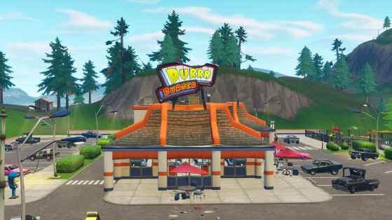 ...ainsi qu'au burger de Greasy Grove - Fortnite : Battle royale