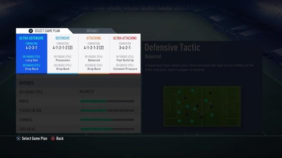 Aperçu des tactiques dynamiques sur FUT - FIFA