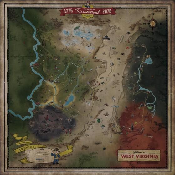 Guide Fallout 76 Carte Zones