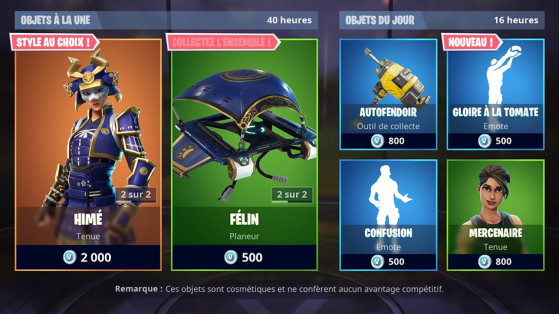 Fortnite : boutique du 24 août