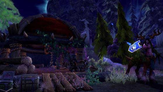 Le Bosquet Pluie-de-Cendres, utile afin de récolter le bois - World of Warcraft